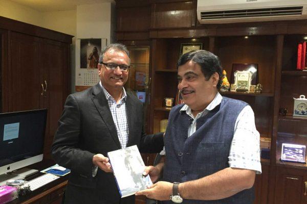 Ajay Kela with Nitin Gadgari