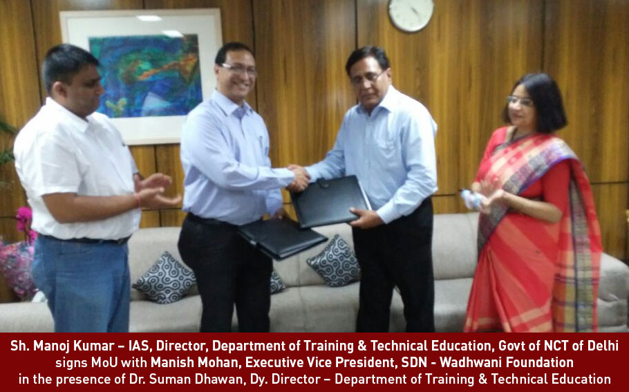 WF-SDN signs MoU with DTTE, Delhi